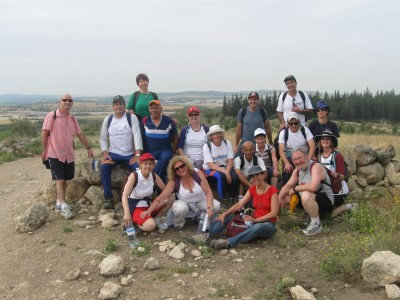 The inauguration of the Israel Trail hiking group