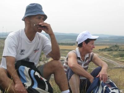 Avner Halachmi plays harmonic on the Israel Trail