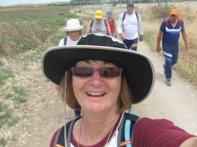 Lisa Mishli self-portrait on the Israel Trail