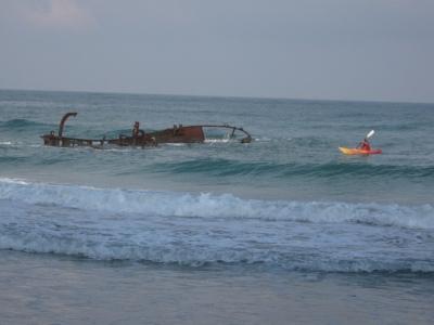 Shipwreck, near Gaash