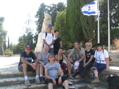 At the roaring lion memorial at Tel Hai