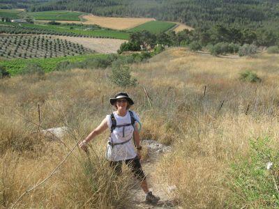 Lisa Mishli on the Israel Trail - near Latrun