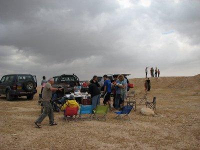 12 May 2007 -  10:00 - Judean Desert Jeep Trip - Breakfast Break. (Tomer Shkolnik photo)