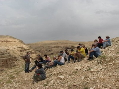 12 May 2007 - 12 noon - Judean Desert Jeep Trip - on hill opposite Mar Saba Monastery (Tomer Shkolnik photo)
