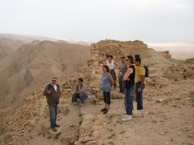 12 May 2007 - 14:00 - Judean Desert Jeep Trip - On top of Hyrcania Fortress (Tomer Shkolnik photo)